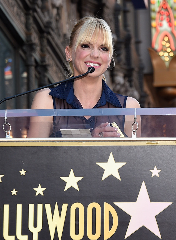 . HOLLYWOOD, CA - APRIL 21:  Actor Anna Faris at Chris Pratt Honored With Star On The Hollywood Walk Of Fame on April 21, 2017 in Hollywood, California.  (Photo by Kevork Djansezian/Getty Images)