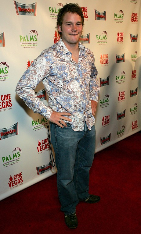 ". LAS VEGAS - JUNE 09:  Actor Chris Pratt arrives at the Cinevegas opening night film ""Strangers With Candy\"" at the Brenden Theatres inside the Palms Casino Resort on June 9, 2006 in Las Vegas, Nevada.  (Photo by Ethan Miller/Getty Images for CineVegas)"