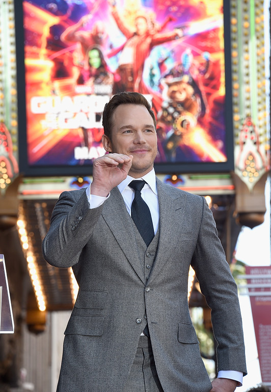 . HOLLYWOOD, CA - APRIL 21:  Chris Pratt Honored With Star On The Hollywood Walk Of Fame on April 21, 2017 in Hollywood, California.  (Photo by Kevork Djansezian/Getty Images)
