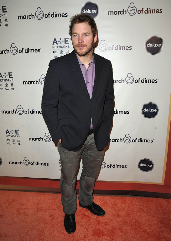 ". Chris Pratt attends the 2013 March of Dimes ""Celebration of Babies\"", on Friday, Dec. 6, 2013 in Beverly Hills, Calif. (Photo by John Shearer/ Invision/ AP)"