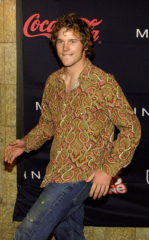 . Actor Chris Pratt attends the 2003 Teen People and Universal Records Party at the Ivar Night Club on January 13, 2003 in Hollywood, California. The party honored recording artist Nelly. (Photo by Frederick M. Brown/Getty Images)