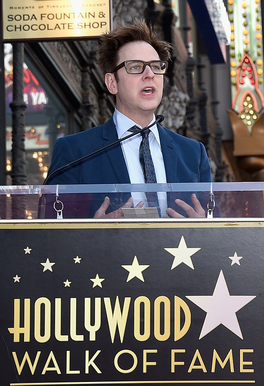 . HOLLYWOOD, CA - APRIL 21: Writer/director James Gunn at Chris Pratt Honored With Star On The Hollywood Walk Of Fame on April 21, 2017 in Hollywood, California.  (Photo by Kevork Djansezian/Getty Images)