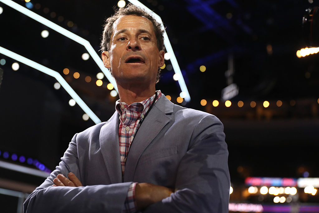 . In this 2016 file photo, former New York congressman Anthony Weiner walks the floor prior to the start of the second day of the Democratic National Convention at the Wells Fargo Center, July 26, 2016 in Philadelphia, Pennsylvania. The judge accepted Weiner\'s guilty plea Friday, May 19, 2017,  to a charge of transmitting sexual material to a minor. (Photo by Joe Raedle/Getty Images)
