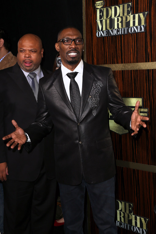 ". BEVERLY HILLS, CA - NOVEMBER 03:  Actor Charlie Murphy arrives at Spike TV\'s ""Eddie Murphy: One Night Only\"" at the Saban Theatre on November 3, 2012 in Beverly Hills, California.  (Photo by Frederick M. Brown/Getty Images)"