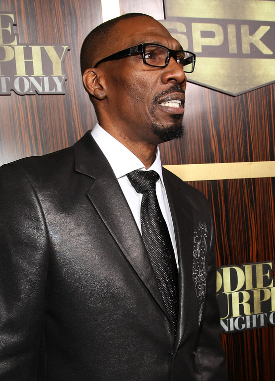 ". BEVERLY HILLS, CA - NOVEMBER 03:  Actor Charlie Murphy arrives at Spike TV\'s ""Eddie Murphy: One Night Only\"" at the Saban Theatre on November 3, 2012 in Beverly Hills, California.  (Photo by Christopher Polk/Getty Images)"