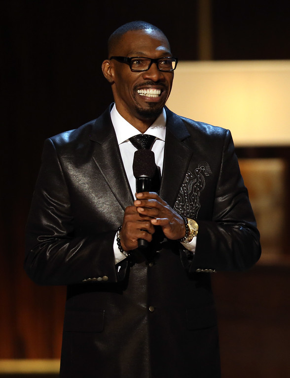". BEVERLY HILLS, CA - NOVEMBER 03:  Presenter Charlie Murphy speaks onstage at Spike TV\'s ""Eddie Murphy: One Night Only\"" at the Saban Theatre on November 3, 2012 in Beverly Hills, California.  (Photo by Christopher Polk/Getty Images)"