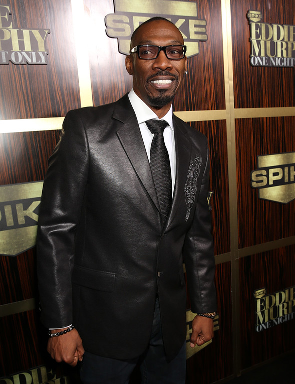 ". BEVERLY HILLS, CA - NOVEMBER 03: Comedian Charlie Murphy arrives at Spike TV\'s ""Eddie Murphy: One Night Only\"" at the Saban Theatre on November 3, 2012 in Beverly Hills, California.  (Photo by Christopher Polk/Getty Images)"