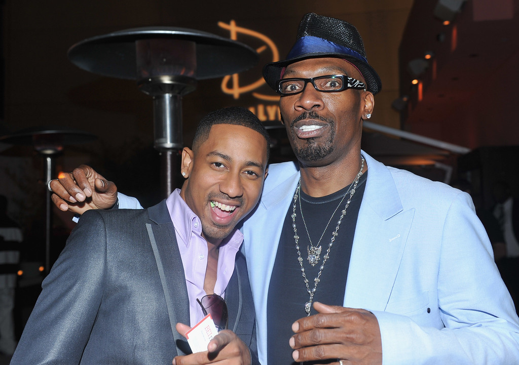 ". HOLLYWOOD - AUGUST 12:  Actor Brandon T. Jackson and actor Charlie Murphy attend the after party for the premiere of Warner Bros.\' ""Lottery Ticket\"" on August 12, 2010 in Hollywood, California.  (Photo by Alberto E. Rodriguez/Getty Images)"