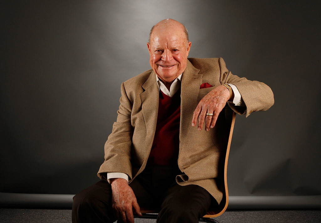""". HOLLYWOOD - NOVEMBER 09:  Actor Don Rickles of the film \""""Mr. Warmth, The Don Rickles Project\"""" poses in the portrait studio during AFI FEST 2007 presented by Audi held at ArcLight Cinemas on November 9, 2007 in Hollywood, California.  (Photo by Mark Mainz/Getty Images for AFI)"""