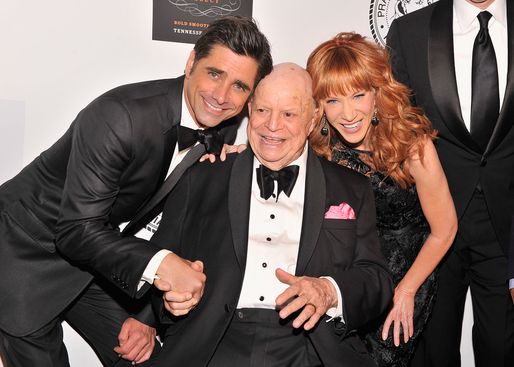 . NEW YORK, NY - JUNE 24:  (L-R) Actor John Stamos, Don Rickles and Kathy Griffin attend The Friars Foundation Annual Applause Award Gala honoring Don Rickles at The Waldorf=Astoria on June 24, 2013 in New York City.  (Photo by Stephen Lovekin/Getty Images)