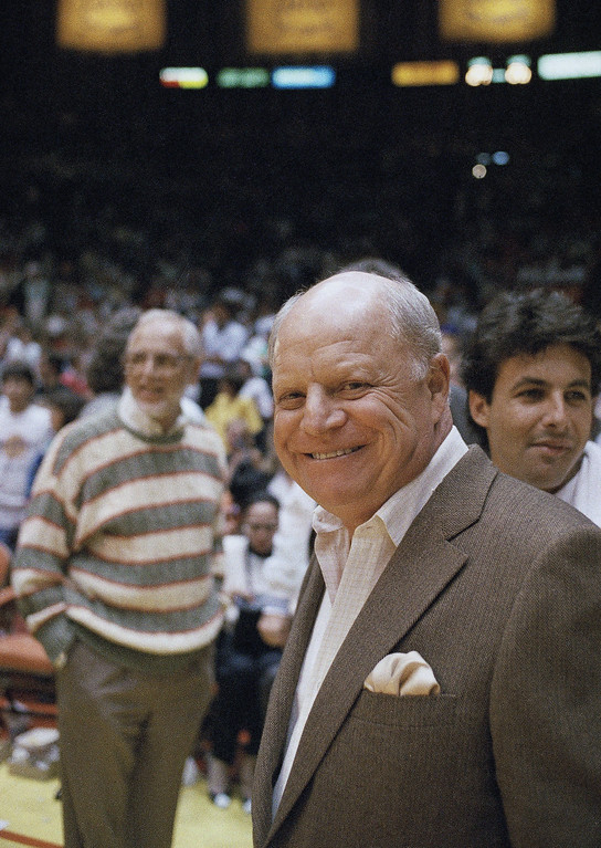 . Comedian Don Rickles at the NBA Playoff game on June 9, 1988 in Los Angeles. (AP Photo/Bob Galbraith)