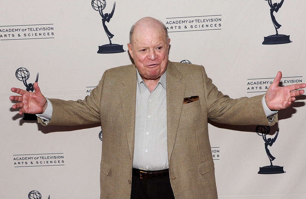 """. NORTH HOLLYWOOD, CA - JUNE 01:  Comedian Don Rickles arrives at the Academy of Television\'s \""""Bob Newhart Celebrates 50 Years in Show Business\"""" at the Leonard H. Goldenson Theatre on June 1, 2010 in North Hollywood, California.  (Photo by Michael Buckner/Getty Images)"""