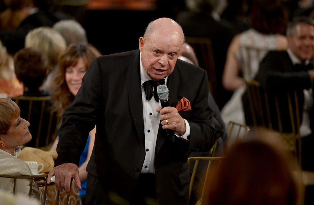 . CULVER CITY, CA - JUNE 07:  Comedian Don Rickles speaks at the 40th AFI Life Achievement Award honoring Shirley MacLaine held at Sony Pictures Studios on June 7, 2012 in Culver City, California. \\ (Photo by Kevin Winter/Getty Images for AFI)
