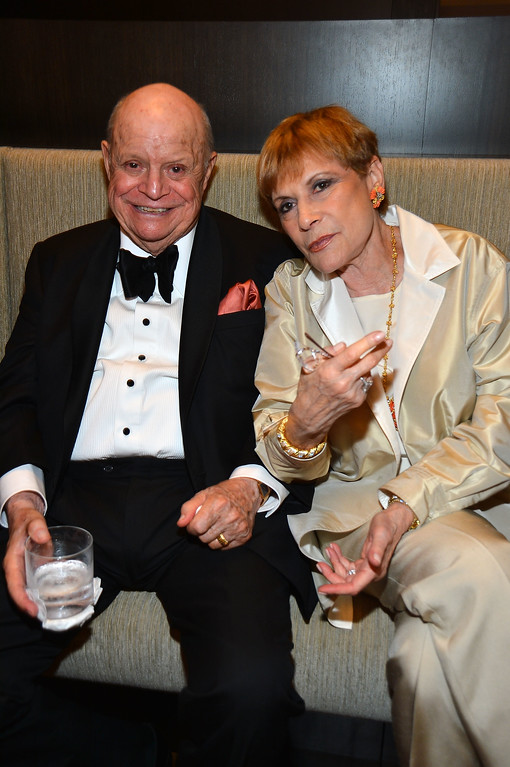 . CULVER CITY, CA - JUNE 07:  Comedian Don Rickles and Barbara Rickles attend the after party for the 40th AFI Life Achievement Award honoring Shirley MacLaine held at Sony Pictures Studios on June 7, 2012 in Culver City, California.  (Photo by Frazer Harrison/Getty Images for AFI)