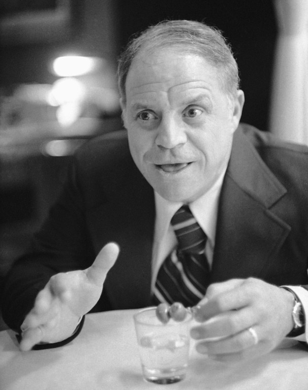 """. Comedian Don Rickles in Los Angeles on Jan. 16, 1975, says he may be called the \""""sultan of insult\"""" and the merchant of venom for his style of picking on people, but what he really wants now is love.   Rickles, the hollering, bald-headed \""""Merchant of Venom� whose barrage of barbs upon the meek and the mighty endeared him to audiences and his peers for decades died, Thursday, April 6, 2017 at his home in Los Angeles. He was 90. (AP Photo/George Brich)"""