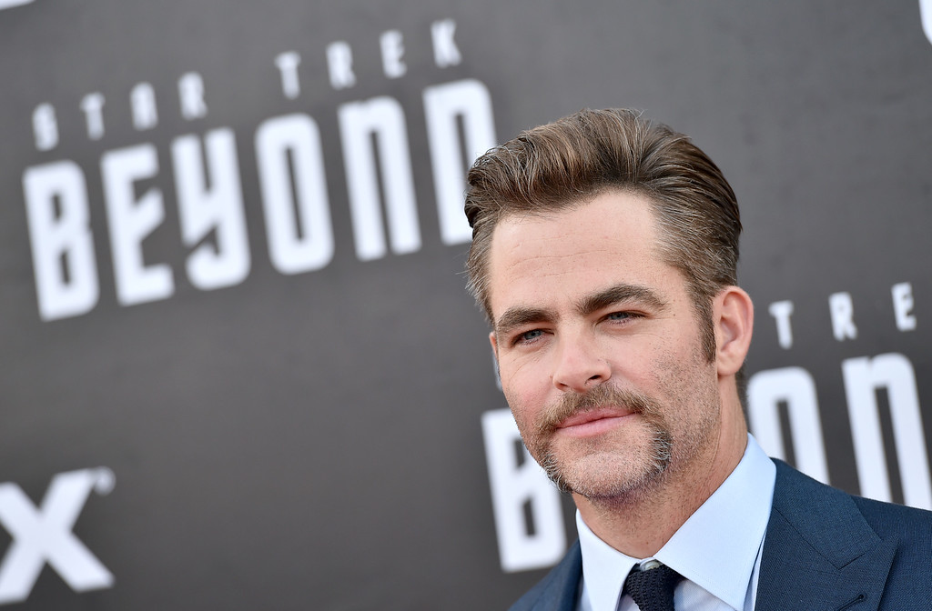 ". Chris Pine arrives at the world premiere of ""Star Trek Beyond\"" at the Embarcadero Marina Park South on Wednesday, July 20, 2016, in San Diego. (Photo by Jordan Strauss/Invision/AP)"