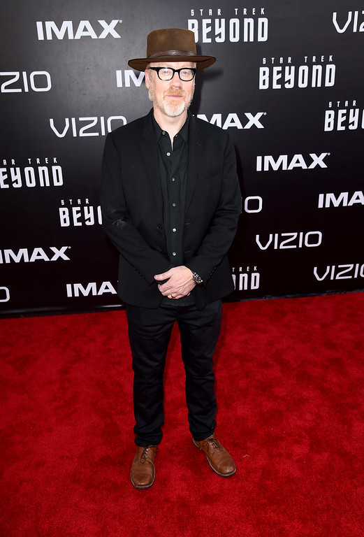 """. SAN DIEGO, CA - JULY 20:  TV personality Adam Savage attends the premiere of Paramount Pictures\' \""""Star Trek Beyond\"""" at Embarcadero Marina Park South on July 20, 2016 in San Diego, California.  (Photo by Kevin Winter/Getty Images)"""