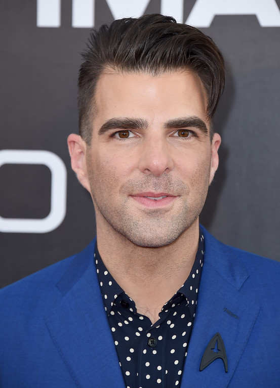 ". Zachary Quinto arrives at the world premiere of ""Star Trek Beyond\"" at the Embarcadero Marina Park South on Wednesday, July 20, 2016, in San Diego. (Photo by Jordan Strauss/Invision/AP)"