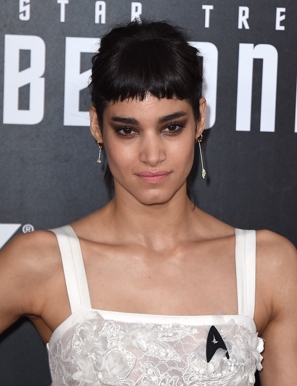 ". Sofia Boutella arrives at the world premiere of ""Star Trek Beyond\"" at the Embarcadero Marina Park South on Wednesday, July 20, 2016, in San Diego. (Photo by Jordan Strauss/Invision/AP)"