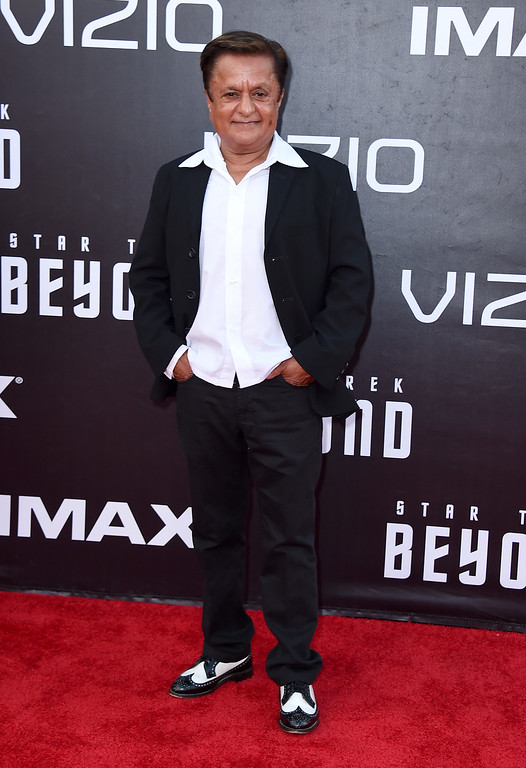 """. Deep Roy arrives at the world premiere of \""""Star Trek Beyond\"""" at the Embarcadero Marina Park South on Wednesday, July 20, 2016, in San Diego. (Photo by Jordan Strauss/Invision/AP)"""