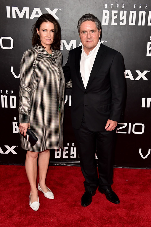""". SAN DIEGO, CA - JULY 20:  Cassandra Huysentruyt and Chairman and CEO of Paramount Pictures Brad Grey attend the premiere of Paramount Pictures\' \""""Star Trek Beyond\"""" at Embarcadero Marina Park South on July 20, 2016 in San Diego, California.  (Photo by Alberto E. Rodriguez/Getty Images)"""
