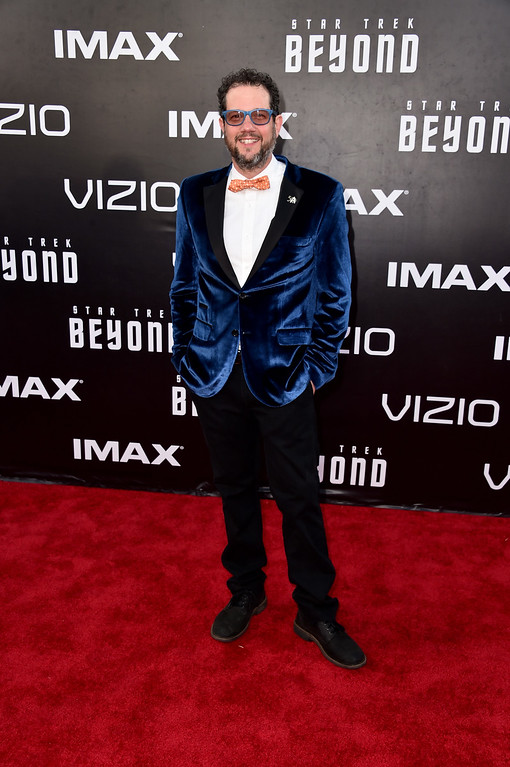 """. SAN DIEGO, CA - JULY 20:  Composer Michael Giacchino attends the premiere of Paramount Pictures\' \""""Star Trek Beyond\"""" at Embarcadero Marina Park South on July 20, 2016 in San Diego, California.  (Photo by Alberto E. Rodriguez/Getty Images)"""