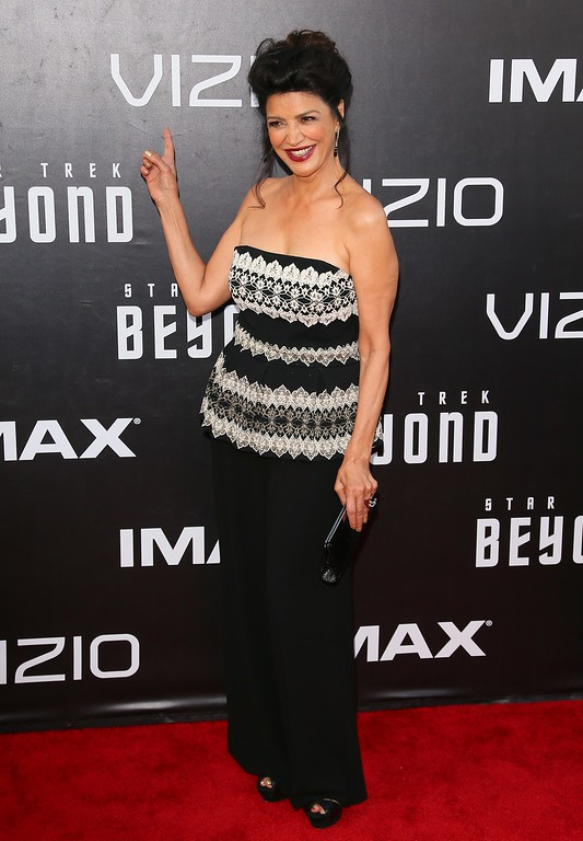 """. Shohreh Aghdashloo attends the world premiere of \""""Star Trek Beyond\""""  in San Diego, California, on July 20, 2016. / AFP / JEAN BAPTISTE LACROIX        (Photo credit should read JEAN BAPTISTE LACROIX/AFP/Getty Images)"""