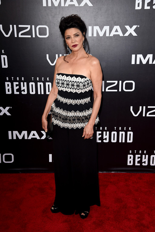 """. SAN DIEGO, CA - JULY 20:  Actress Shohreh Aghdashloo attends the premiere of Paramount Pictures\' \""""Star Trek Beyond\"""" at Embarcadero Marina Park South on July 20, 2016 in San Diego, California.  (Photo by Kevin Winter/Getty Images)"""