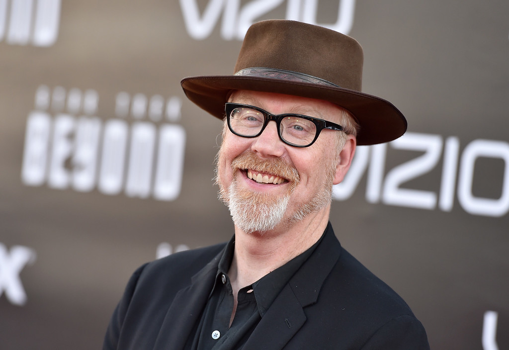 ". Adam Savage arrives at the world premiere of ""Star Trek Beyond\"" at the Embarcadero Marina Park South on Wednesday, July 20, 2016, in San Diego. (Photo by Jordan Strauss/Invision/AP)"