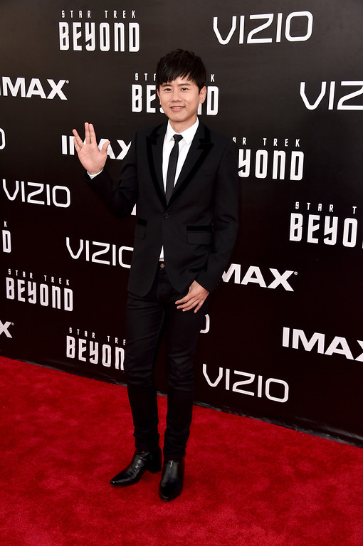 """. SAN DIEGO, CA - JULY 20:  Singer Jason Zhang attends the premiere of Paramount Pictures\' \""""Star Trek Beyond\"""" at Embarcadero Marina Park South on July 20, 2016 in San Diego, California.  (Photo by Alberto E. Rodriguez/Getty Images)"""