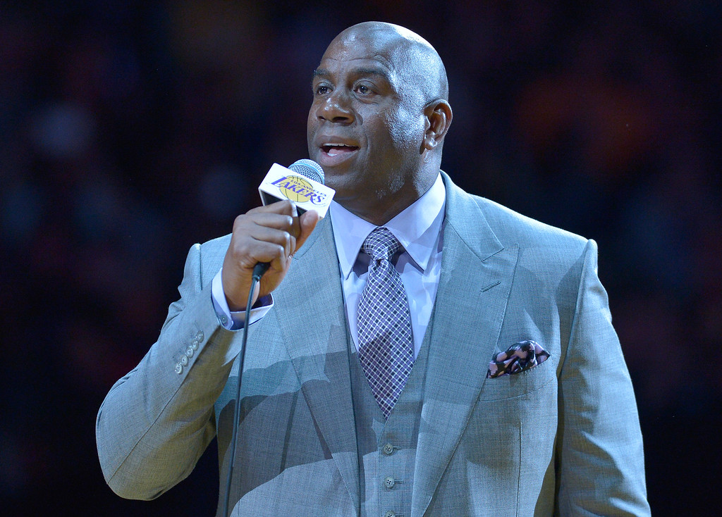 . <b>19. Magic Johnson, 56, Dodgers, Sparks and LAFC Co-Owner </b> <br>Perhaps the most beloved athlete in the city�s history, the former Lakers point guard is now a part-owner of three L.A. sports franchises, among many other businesses ventures ... (Photo by John McCoy/Southern California News Group)