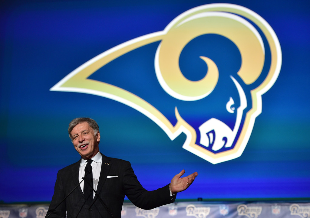 . <b>1. Stan Kroenke, 68, Rams Owner </b> <br>Kroenke won the NFL�s dramatic race to L.A. and to say the reward is substantial would be an understatement. Forbes estimates that the move to the country�s second-largest market doubles the Rams worth making Kroenke�s franchise the third most valuable in the NFL at nearly $3 billion ... (Photo by Brad Graverson/The Daily Breeze/LANG)