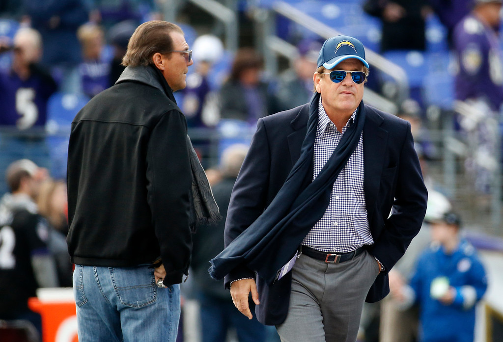 . <b>28. Dean Spanos, 65, San Diego Chargers Owner </b> <br>Spanos may have more power in L.A. than he does in San Diego, where he has failed to land a new stadium deal the last 14 years ... (AP Photo/Alex Brandon)