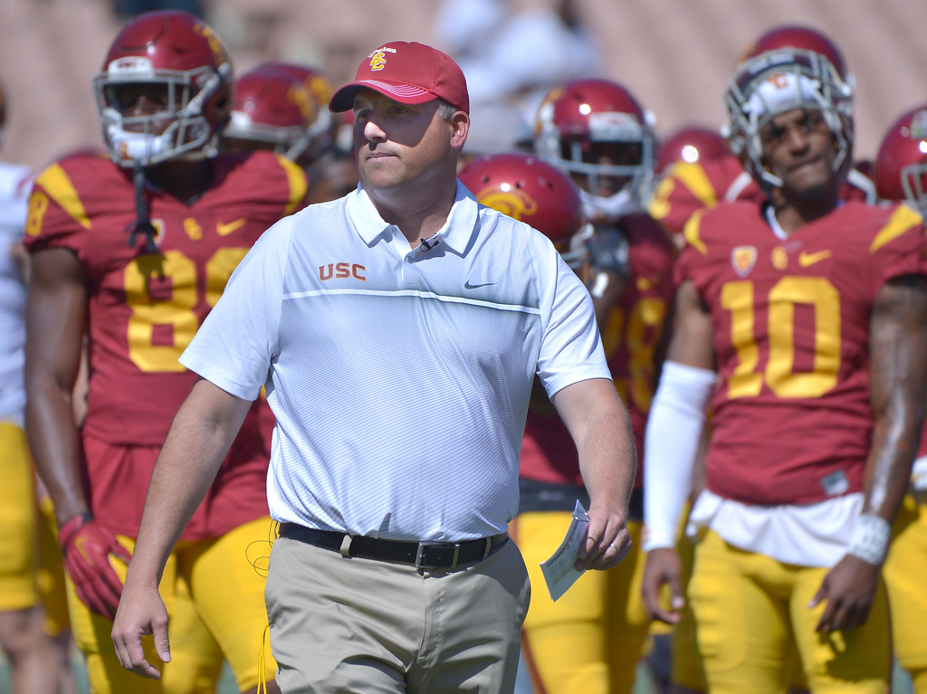 . <b>44. Clay Helton, 43, USC Head Football Coach  </b> <br>Helton wasn�t a splashy hire, but perhaps he is the right hire. If he can harness the high level of talent USC continues to recruit despite the ongoing coaching carousel ... (Photo by John McCoy/Southern California News Group)