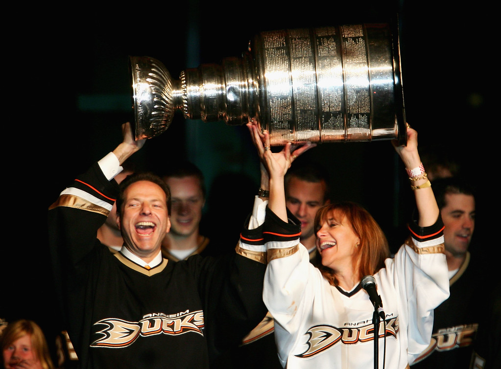 . ... Since purchasing the Ducks from Disney for $75 million in 2005, the franchise has won the 2007 Stanley Cup and made nine playoff appearances in 11 seasons. (Photo by Harry How/Getty Images)