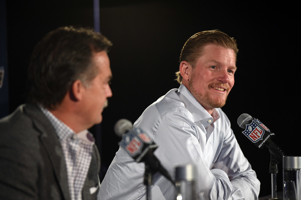 . <b>37. Les Snead, 45, Rams General Manager</b> <br>Before the Rams played a game in their new city, Snead made his presence felt in a way L.A. can admire by acquiring the No. 1 pick in the draft courtesy of one of the biggest pre-draft trades in NFL history ... (Photo by Hans Gutknecht/Los Angeles Daily News)