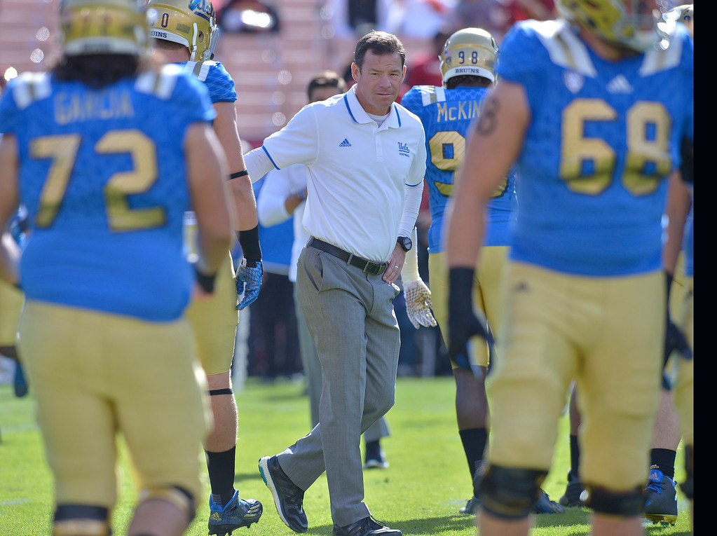 . <b>31. Jim L. Mora, 54, UCLA Head Football Coach</b> <br>After a resurgence in Mora�s first three seasons, UCLA football regressed last season. Mora has bypassed offers to return to the NFL likely because of how bright the future is with quarterback Josh Rosen ... (Photo by John McCoy/Los Angeles News Group)