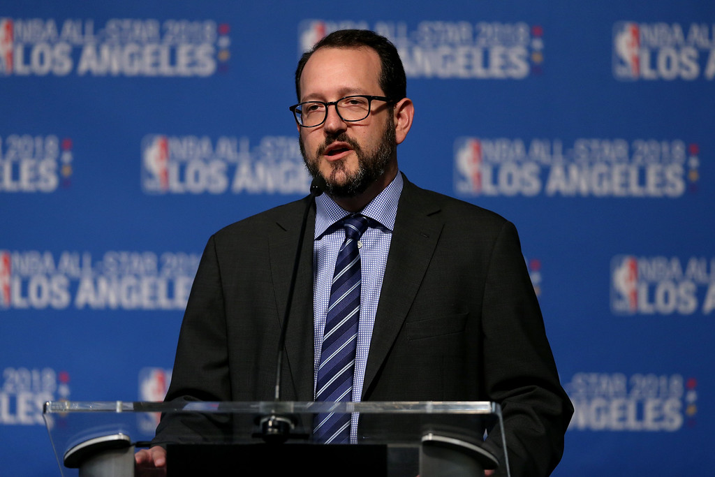 . ...  to name a few of AEG�s hundreds of properties around the world. The UCLA graduate recently  helped Staples Center land the 2018 NBA All-Star game, a record sixth such event  in L.A.  (Photo by Sean M. Haffey/Getty Images)