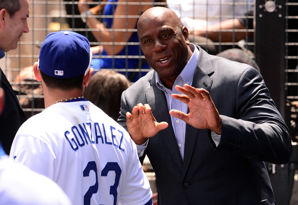 . ... Johnson hasn�t been as visible in his role as Dodgers owner the last two years, but the franchise hasn�t provided any high profile free agents from him to recruit either. (Photo by Keith Birmingham/ Pasadena Star-News)