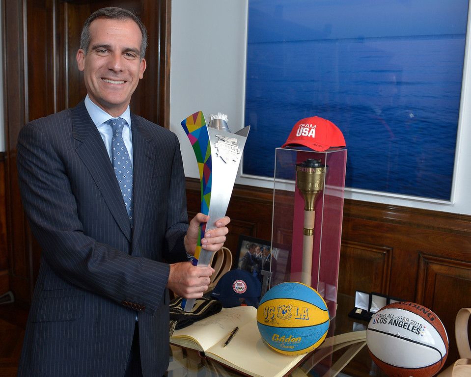 . <b>6. Eric Garcetti, 45, Mayor of Los Angeles </b> <br>Garcetti has been in office for less than three years, but has already helped Los Angeles end a 20-year drought without an NFL franchise ... (Photo by John McCoy/Southern California News Group)