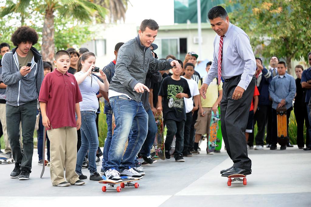 . ...  Worth an estimated $50 million, Dyrdek is leading an effort to make street skateboarding an Olympic sport. (Andy Holzman/Los Angeles Daily News)