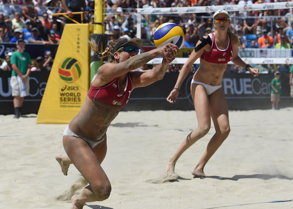 . <b>39. Kerri Walsh Jennings and April Ross, 37 and 33, Beach Volleyball Players</b> <br>Regarded as the best beach volleyball player in the world, Walsh Jennings is aiming for her fourth consecutive gold medal this summer at the 2016 Summer Olympics and her first with Ross ... (Photo by Stephen Carr / Daily Breeze)