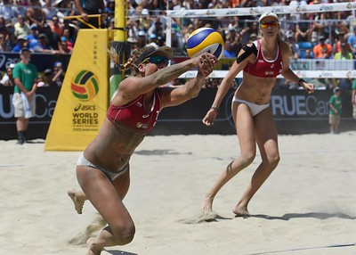 39. Kerri Walsh Jennings and April Ross, 37 and 33, Beach Volleyball Players Regarded as the best beach volleyball player in the world, Walsh Jennings is aiming for her fourth consecutive gold medal this summer at the 2016 Summer Olympics and her first with Ross ... (Photo by Stephen Carr / Daily Breeze)