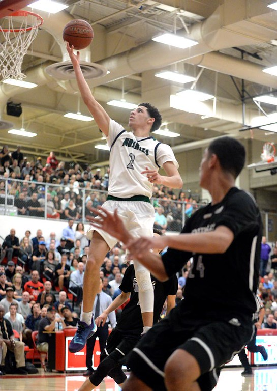. ... The senior, junior and freshman are all pledged to UCLA where Lonzo, ESPN�s No. 4 recruit in the country, will begin in the fall. (Micah Escamilla/Inland Valley Daily Bulletin)