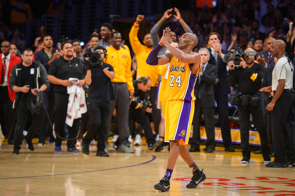 . <b>4. Kobe Bryant, 37, Lakers Shooting Guard </b> <br>Bryant�s significance to L.A. was on full display during a final season the franchise dedicated to his farewell tour. He famously punctuated his career with a 60-point finale, but Bryant isn�t going quietly into the night ... (Photo by David Crane/Southern California News Group)