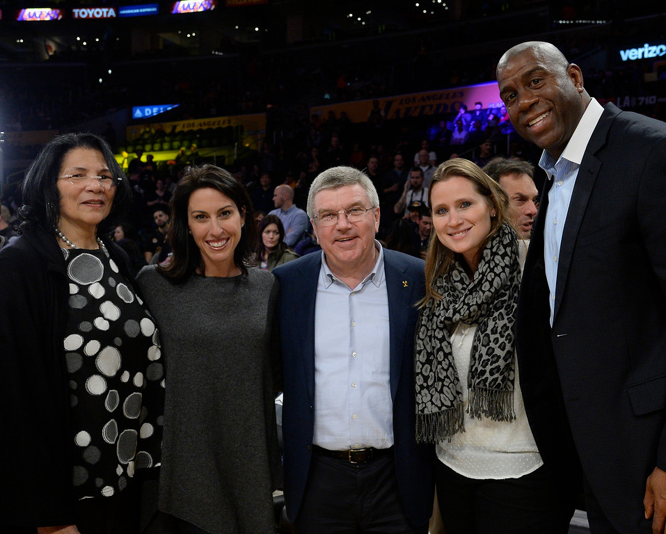 . ...  The two-time Olympic medalist is now aiding L.A.�s Olympic bid as LA 2024�s Senior Advisor for Legacy. DeFrantz helped LA84 donate more than $225 million to youth sports organizations. (Photo by Kevork Djansezian/Getty Images)