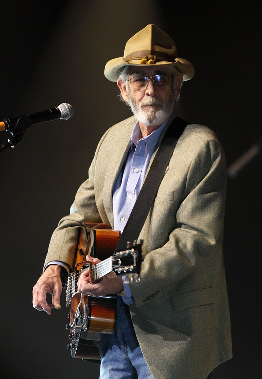 ". FILE - In this April 10, 2012 file photo, Don Williams performs during the All for the Hall concert in Nashville, Tenn. Williams, an award-winning country singer with love ballads like ""I Believe in You,\"" died Friday, Sept. 8, 2017, after a short illness. He was 78. (AP Photo/Mark Humphrey, File)"