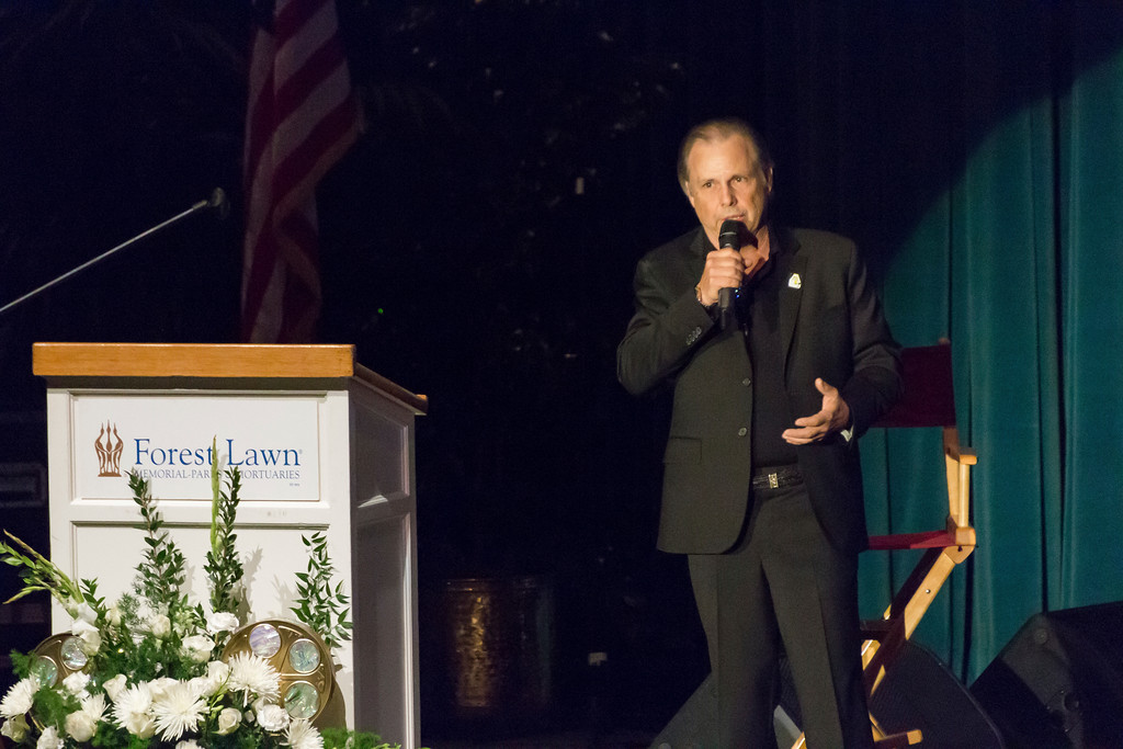 . Todd Fisher speaks at the Carrie Fisher and Debbie Reynolds Memorial Service at The Forest Lawn on Saturday, March 25, 2017, in Los Angeles. (Photo by Willy Sanjuan/Invision/AP)