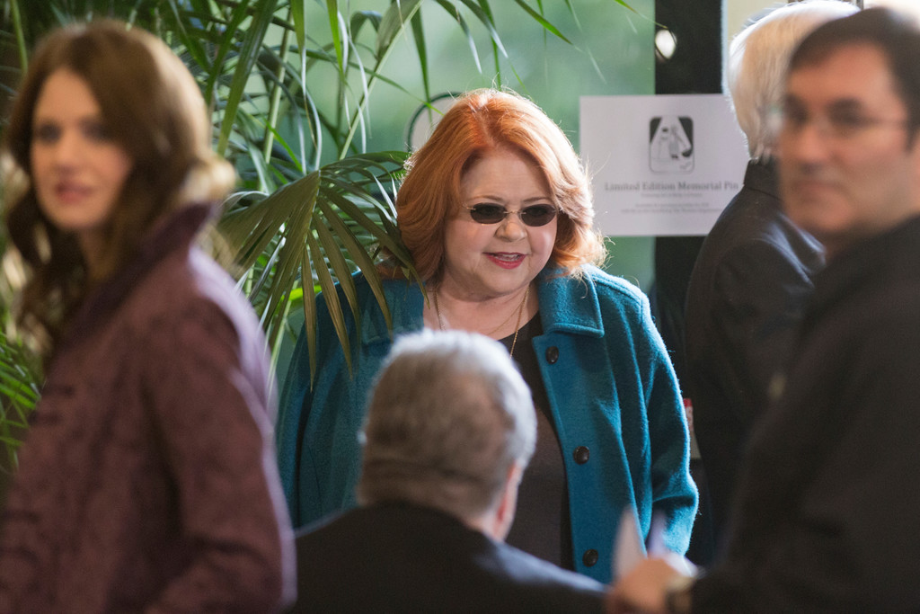 . Patrika Darbo arrives at the Carrie Fisher and Debbie Reynolds Memorial Service at The Forest Lawn on Saturday, March 25, 2017, in Los Angeles. (Photo by Willy Sanjuan/Invision/AP)