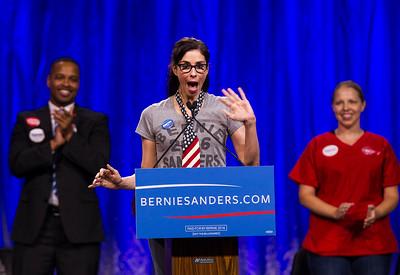 Democratic presidential candidate Bernie Sanders packs L.A. Sports Arena